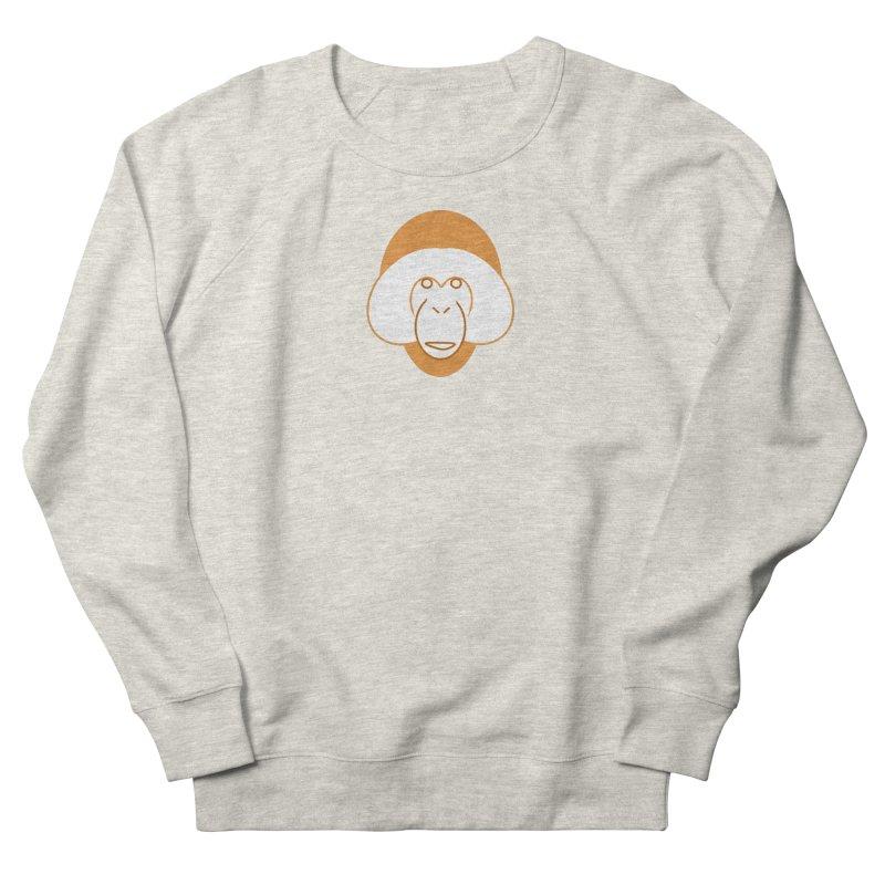 Orangutan Logo Men's French Terry Sweatshirt by Stop Palm Oil!