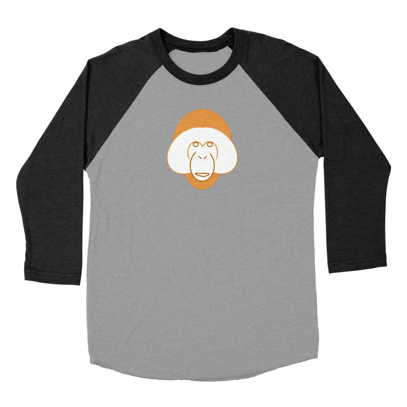 Orangutan Logo Women's Baseball Triblend Longsleeve T-Shirt by Stop Palm Oil!