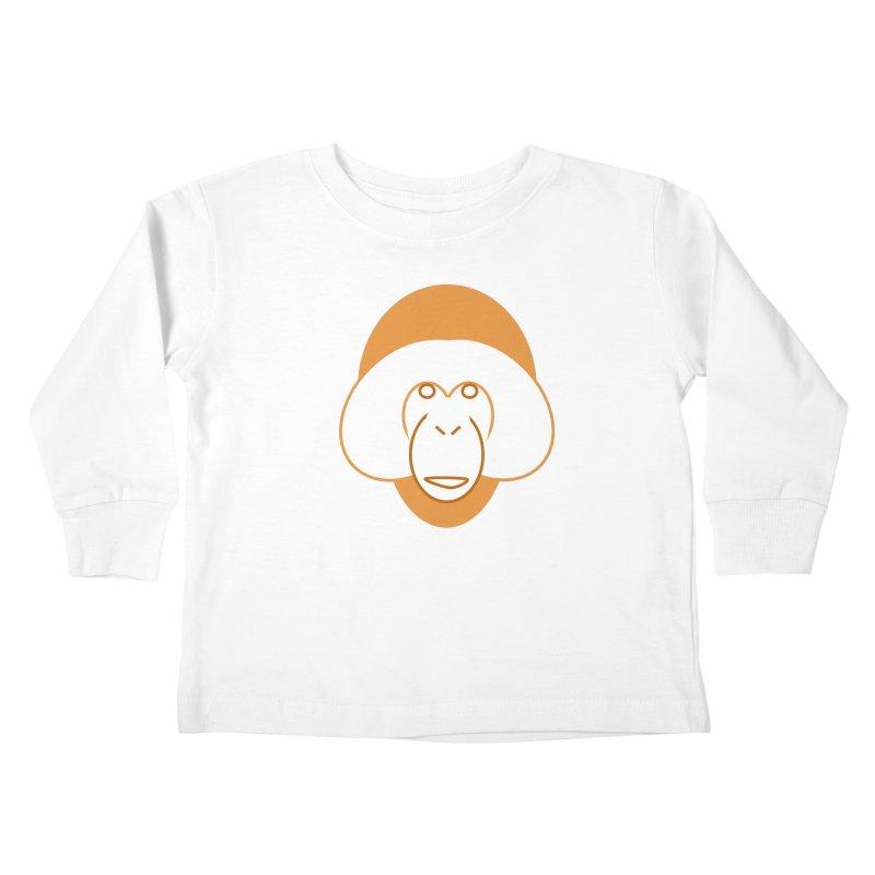 Orangutan Logo Kids Toddler Longsleeve T-Shirt by Stop Palm Oil!