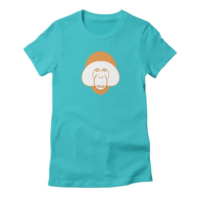 Orangutan Logo Women's Fitted T-Shirt by Stop Palm Oil!