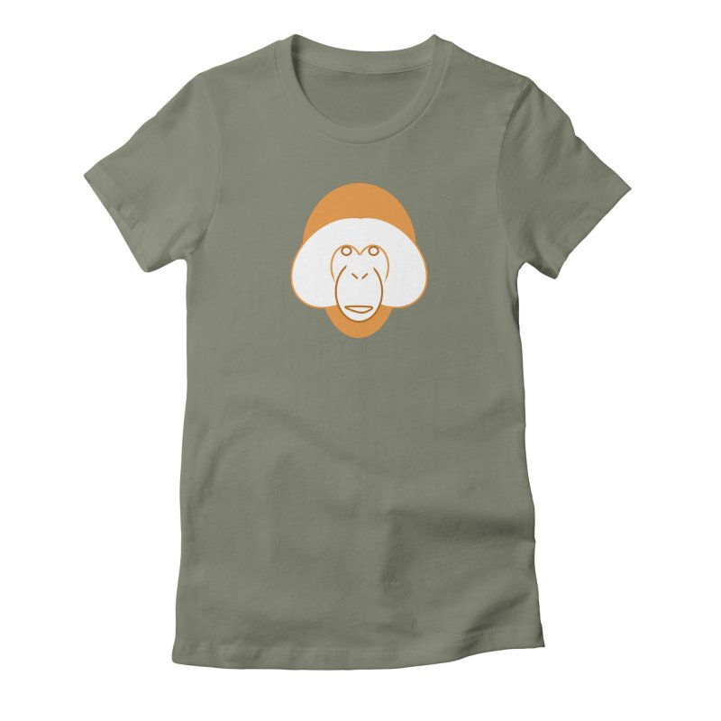 Orangutan Logo Women's Fitted T-Shirt by Stop Palm Oil!