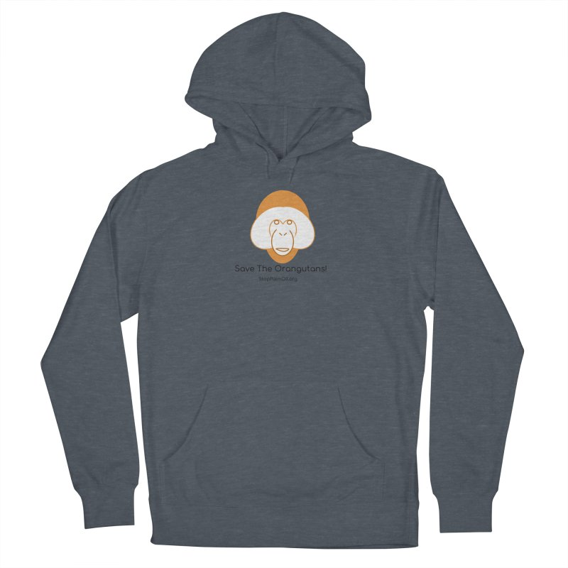 Orangutan shirt Men's French Terry Pullover Hoody by Stop Palm Oil!