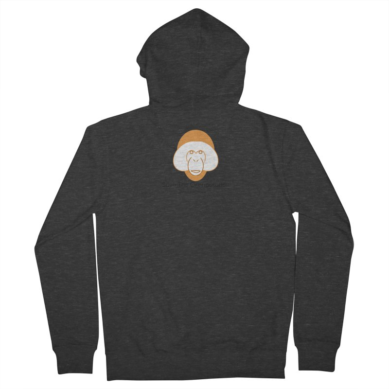 Orangutan shirt Women's French Terry Zip-Up Hoody by Stop Palm Oil!