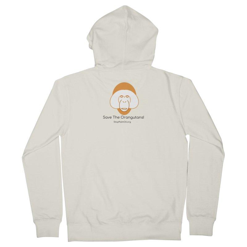 Orangutan shirt Women's French Terry Zip-Up Hoody by Stop Palm Oil!