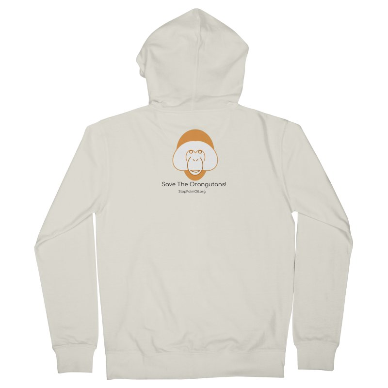 Orangutan shirt Men's French Terry Zip-Up Hoody by Stop Palm Oil!