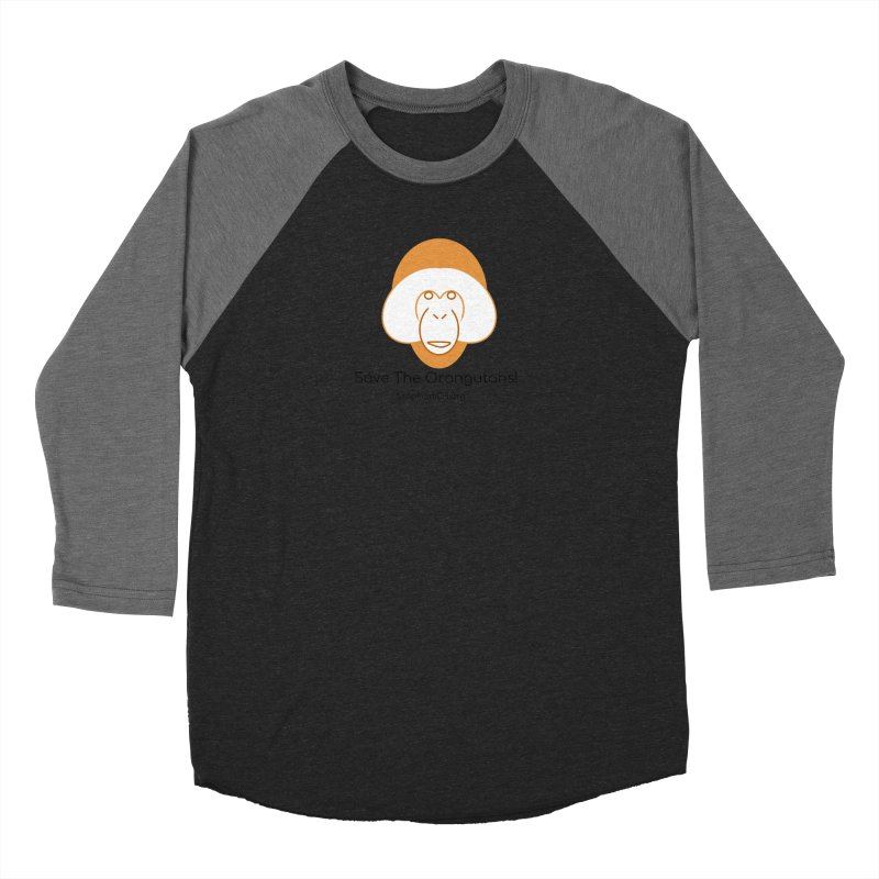 Orangutan shirt Women's Baseball Triblend Longsleeve T-Shirt by Stop Palm Oil!