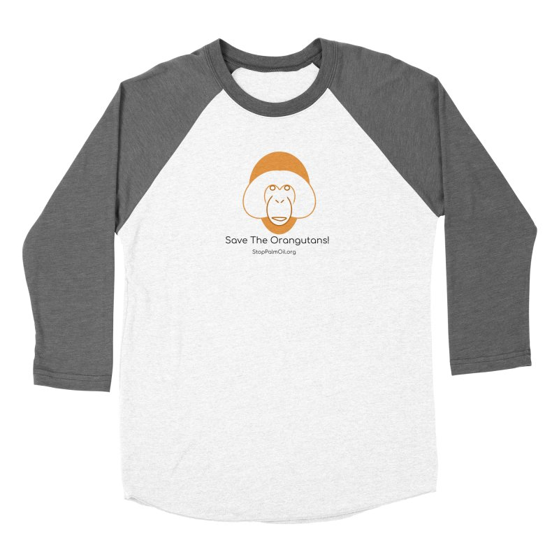 Orangutan shirt Men's Baseball Triblend Longsleeve T-Shirt by Stop Palm Oil!