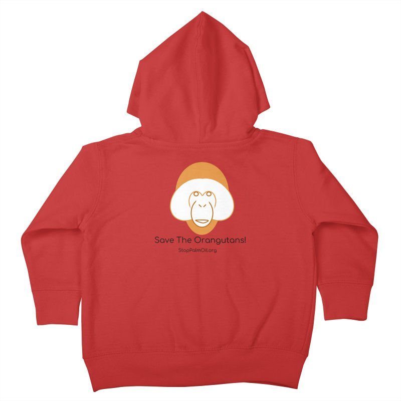 Orangutan shirt Kids Toddler Zip-Up Hoody by Stop Palm Oil!