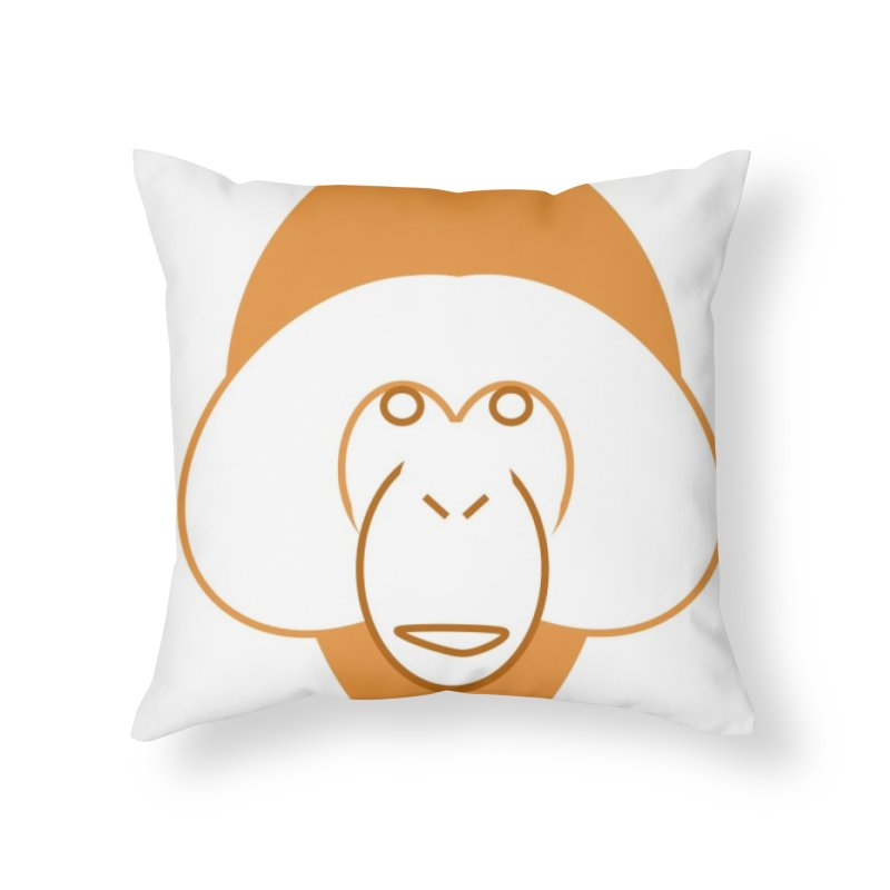 Orangutan Items Home Throw Pillow by Stop Palm Oil!
