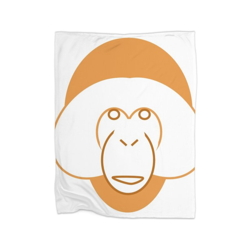 Orangutan Items Home Fleece Blanket Blanket by Stop Palm Oil!