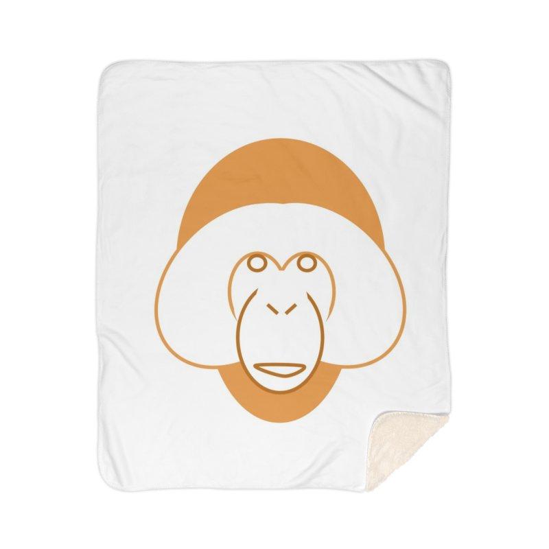 Orangutan Items Home Sherpa Blanket Blanket by Stop Palm Oil!