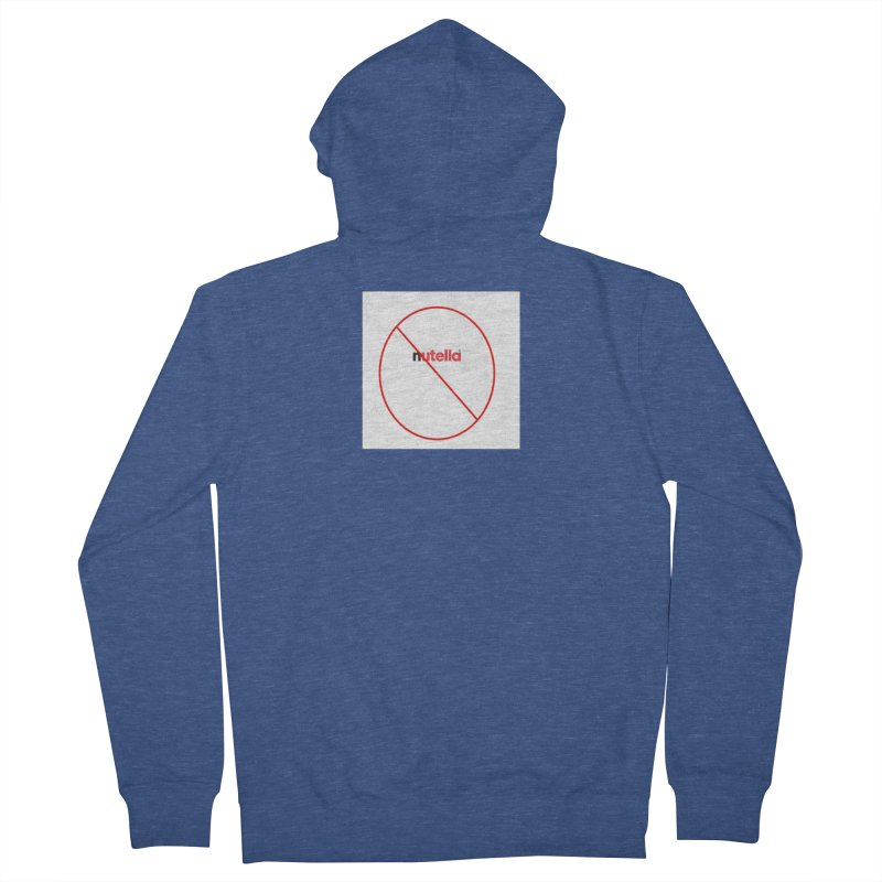 Anti-Nutella Logo Men's French Terry Zip-Up Hoody by Stop Palm Oil!