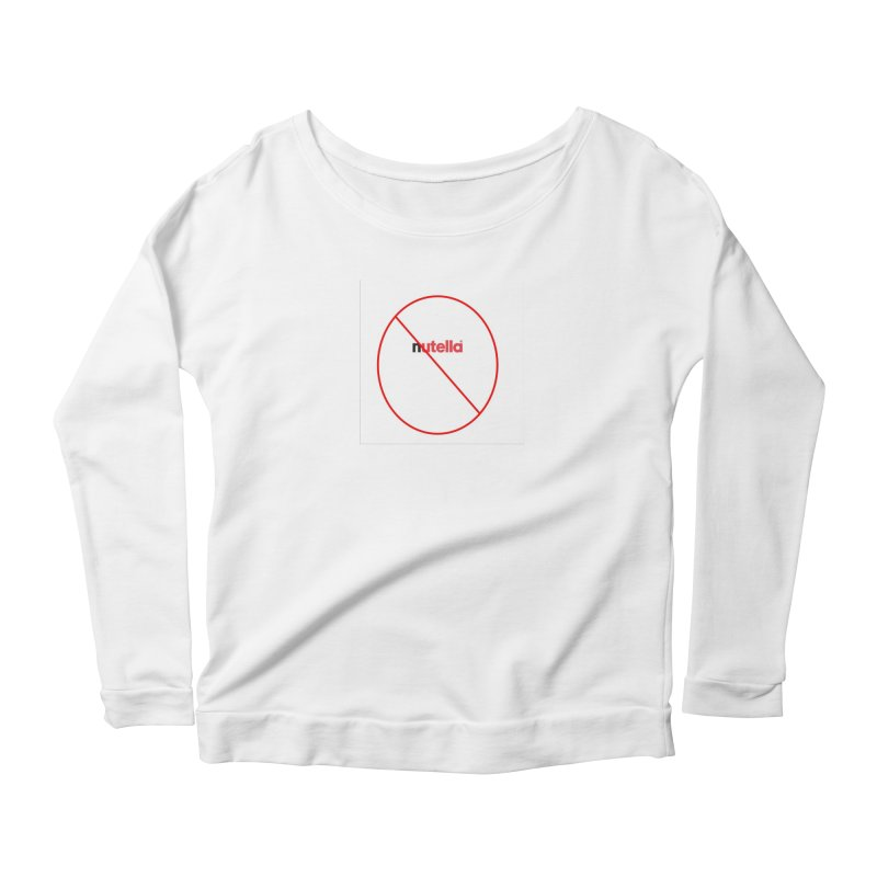 Anti-Nutella Logo Women's Scoop Neck Longsleeve T-Shirt by Stop Palm Oil!