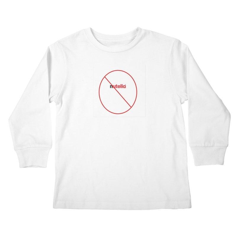 Anti-Nutella Logo Kids Longsleeve T-Shirt by Stop Palm Oil!