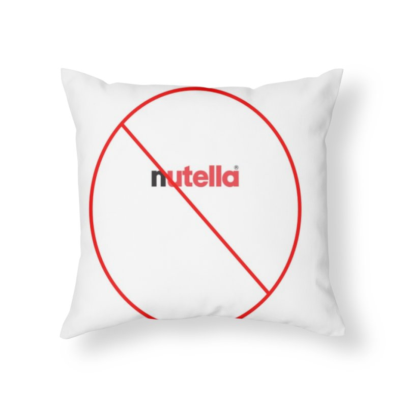 Anti-Nutella Logo Home Throw Pillow by Stop Palm Oil!