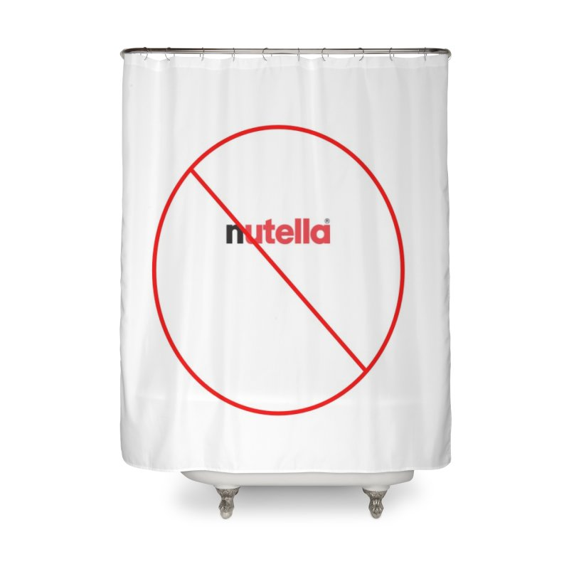 Anti-Nutella Logo Home Shower Curtain by Stop Palm Oil!