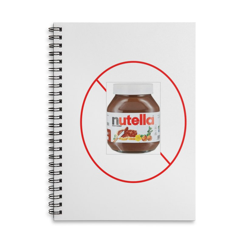 Anti Nutella 2 Accessories Lined Spiral Notebook by Stop Palm Oil!