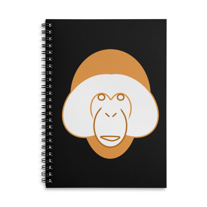 Orangutan #2 Accessories Lined Spiral Notebook by Stop Palm Oil!