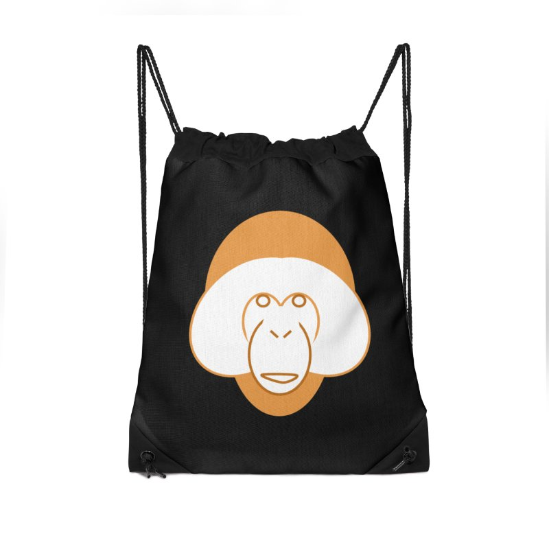 Orangutan #2 Accessories Drawstring Bag Bag by Stop Palm Oil!