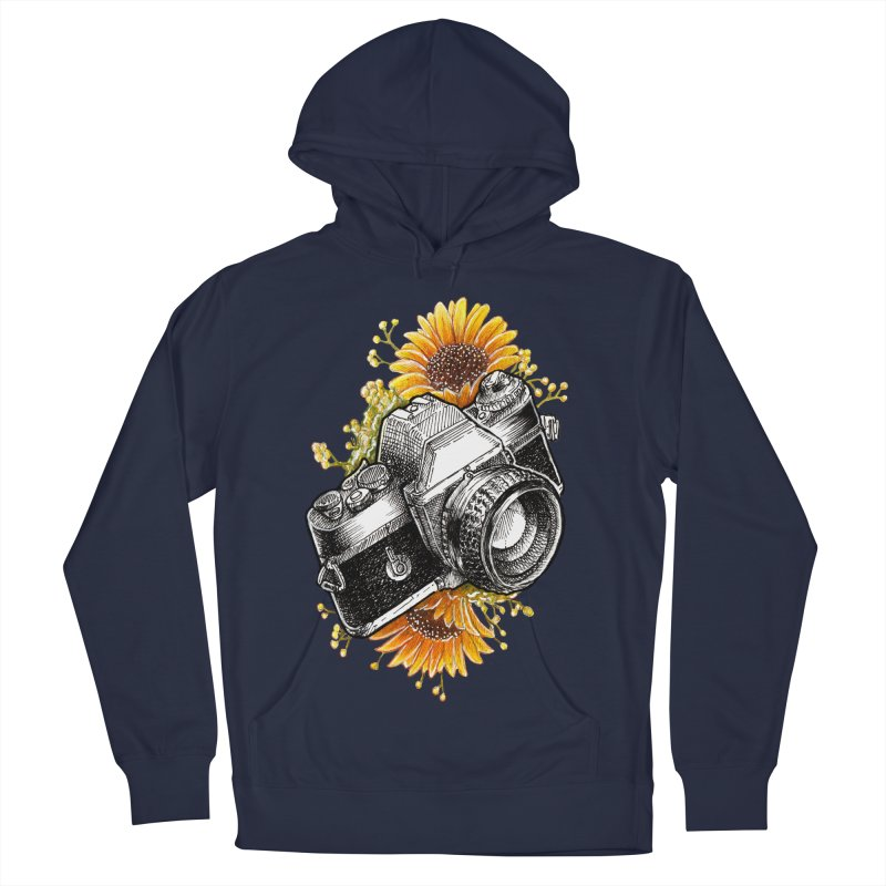 Shoot The Sunflowers Men's French Terry Pullover Hoody by artofvelazuez