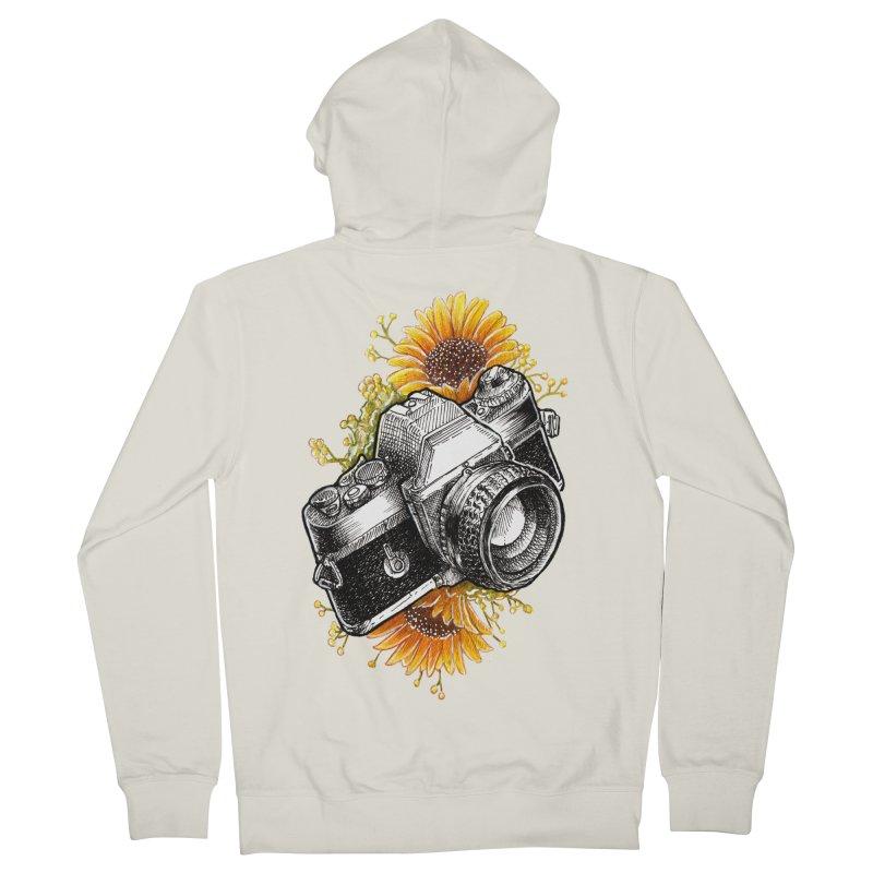Shoot The Sunflowers Men's French Terry Zip-Up Hoody by artofvelazuez