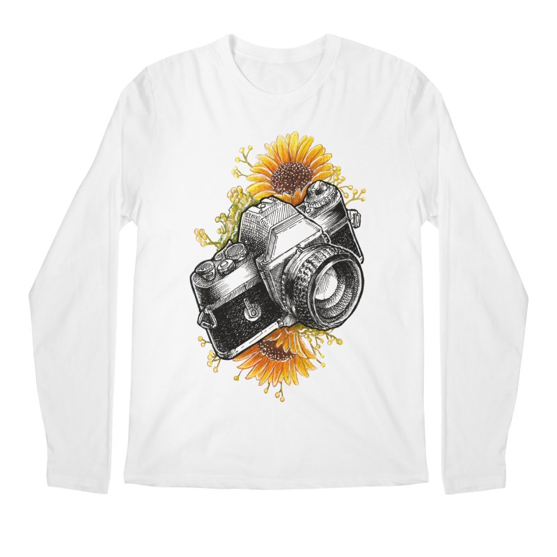 Shoot The Sunflowers Men's Regular Longsleeve T-Shirt by artofvelazuez