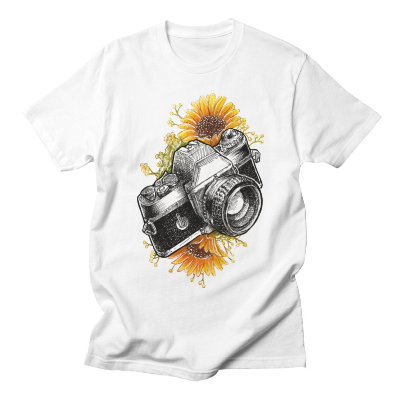 Shoot The Sunflowers Men's Regular T-Shirt by artofvelazuez
