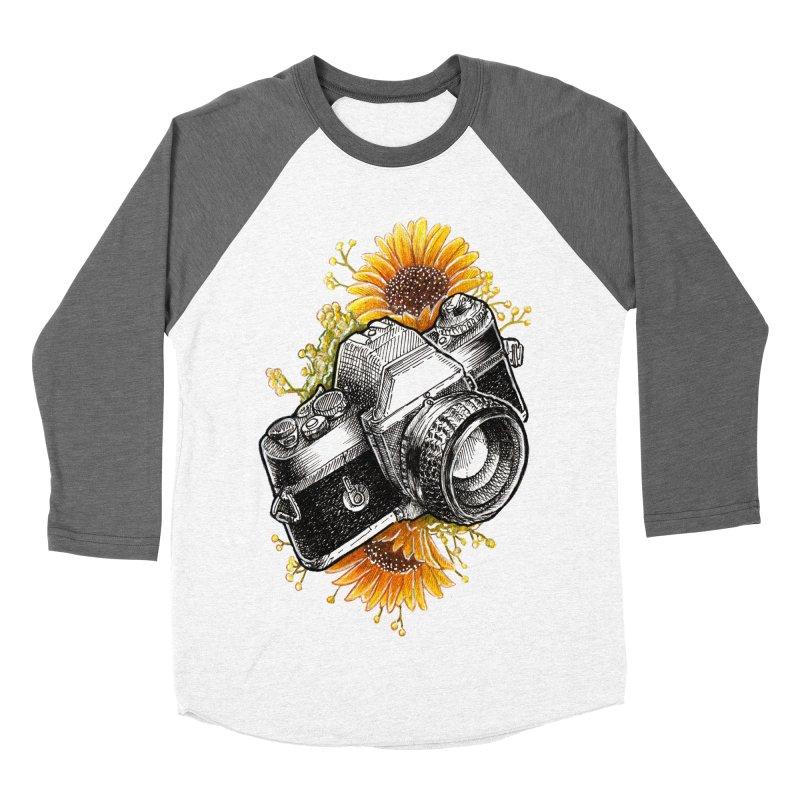 Shoot The Sunflowers Women's Baseball Triblend Longsleeve T-Shirt by artofvelazuez