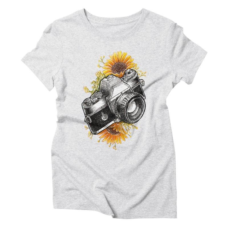 Shoot The Sunflowers Women's Triblend T-Shirt by artofvelazuez