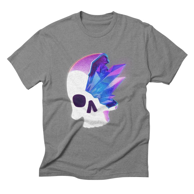 Crystal Skull Men's Triblend T-Shirt by