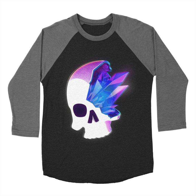 Crystal Skull Women's Baseball Triblend Longsleeve T-Shirt by artofvelazuez