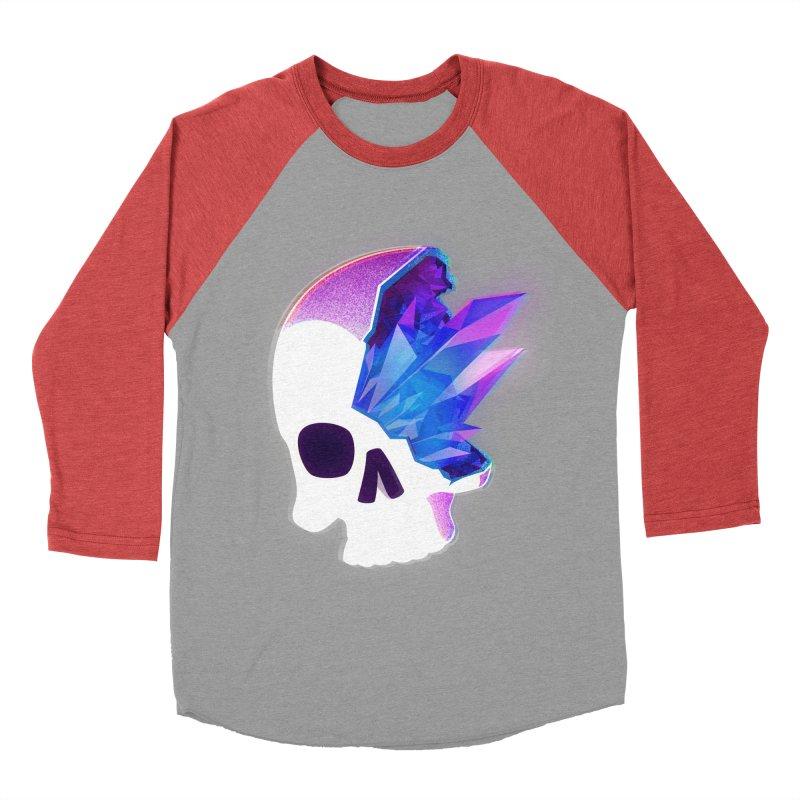 Crystal Skull Men's Baseball Triblend T-Shirt by