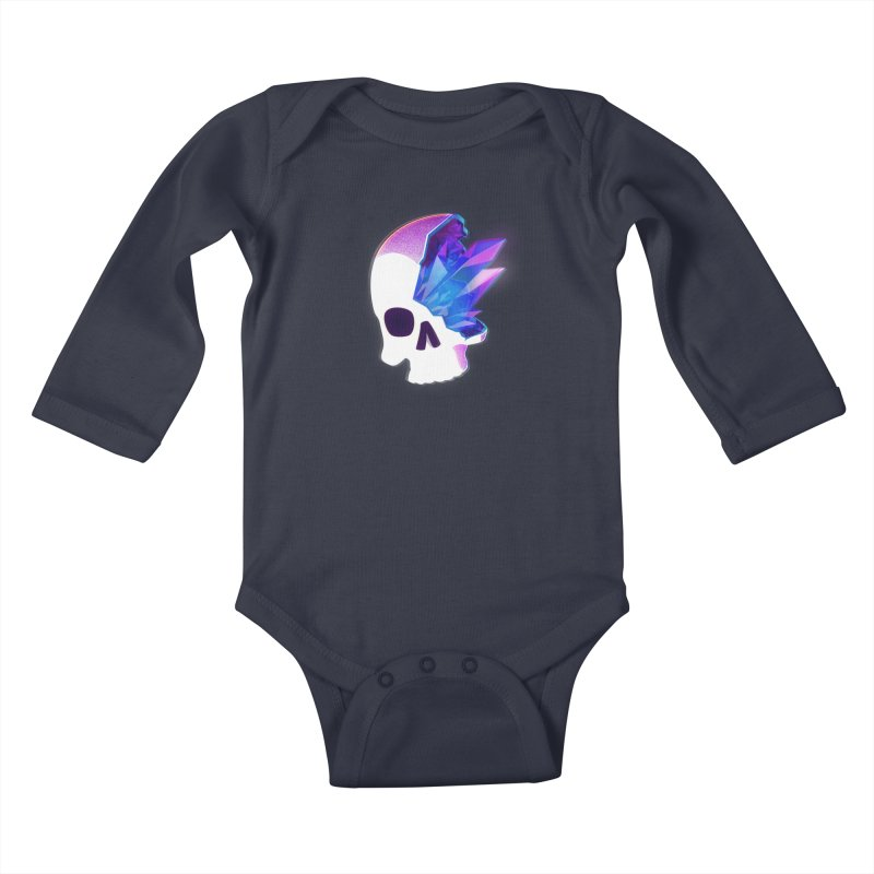 Crystal Skull Kids Baby Longsleeve Bodysuit by