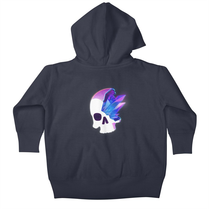 Crystal Skull Kids Baby Zip-Up Hoody by