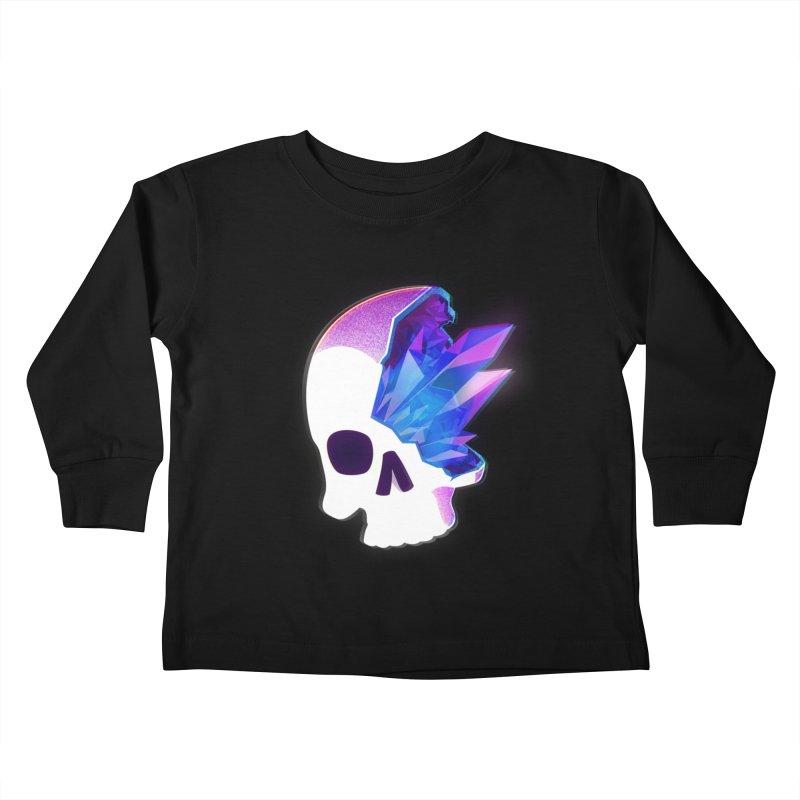 Crystal Skull Kids Toddler Longsleeve T-Shirt by artofvelazuez