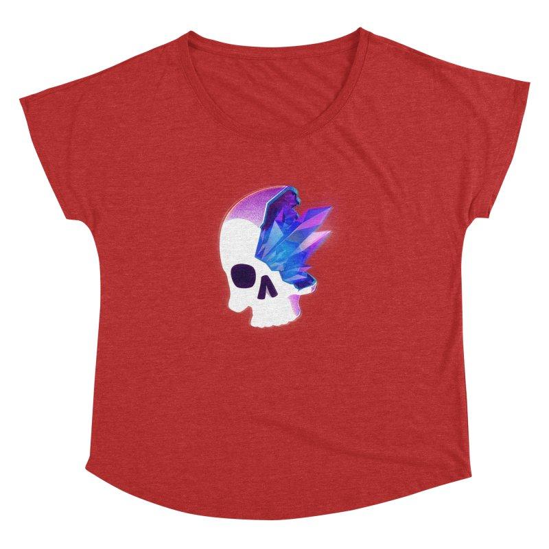 Crystal Skull Women's Dolman Scoop Neck by