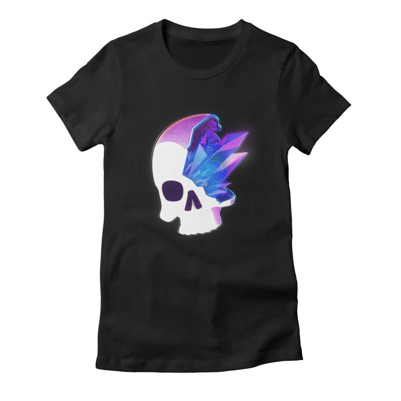 Crystal Skull Women's Fitted T-Shirt by