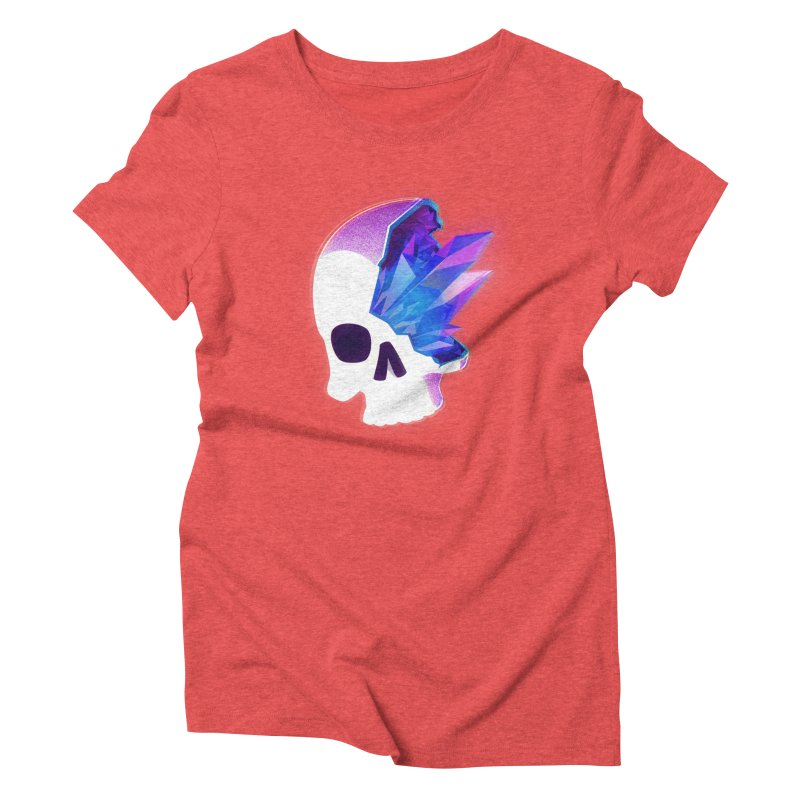 Crystal Skull Women's Triblend T-shirt by