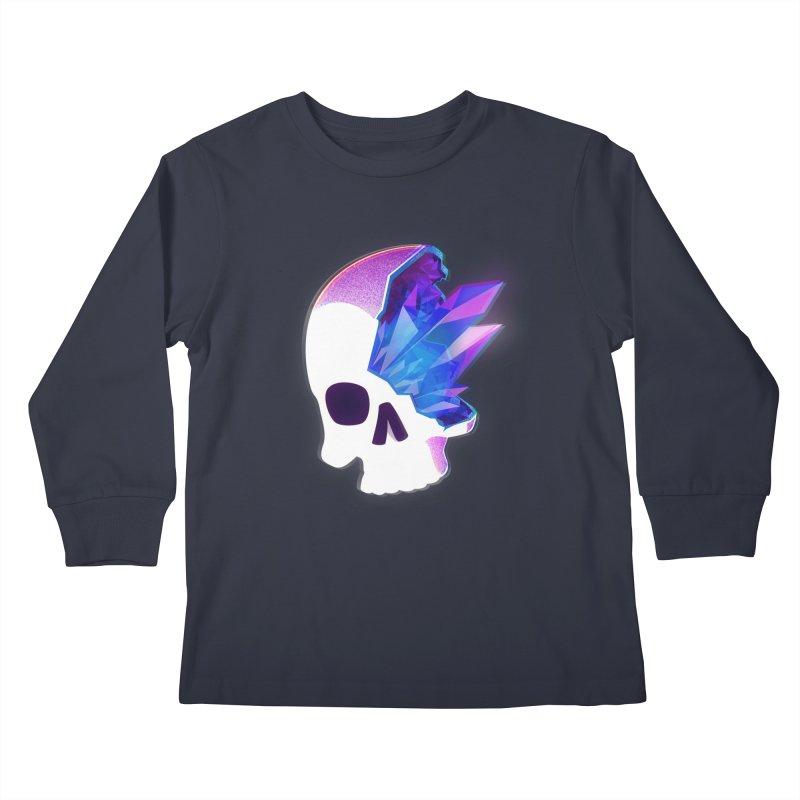 Crystal Skull Kids Longsleeve T-Shirt by artofvelazuez