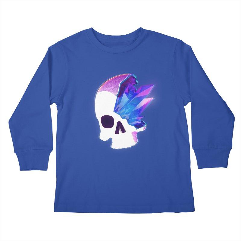 Crystal Skull Kids Longsleeve T-Shirt by