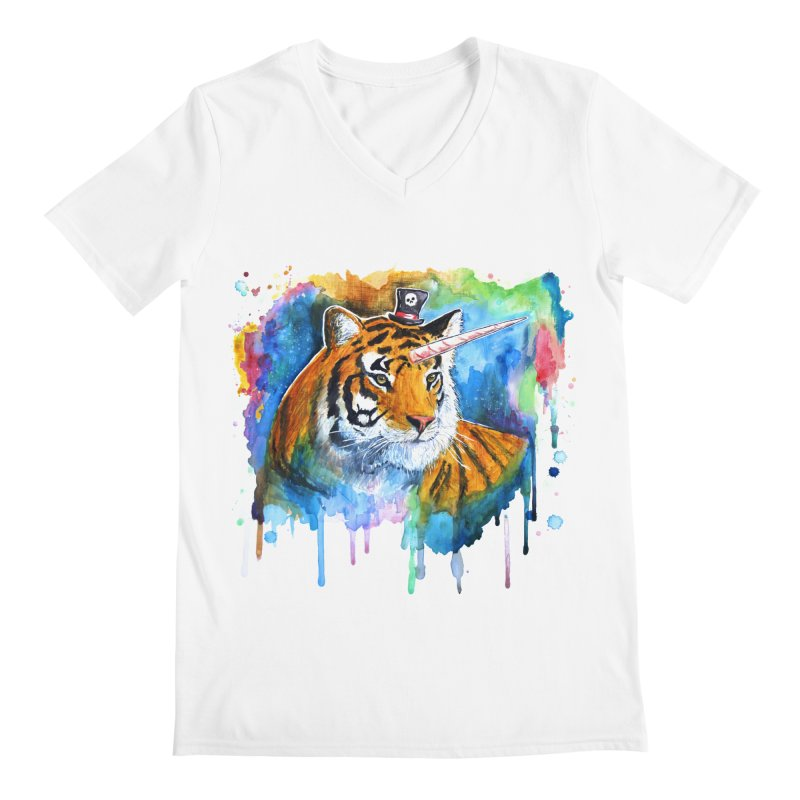 The Tigress With a Dream Men's V-Neck by