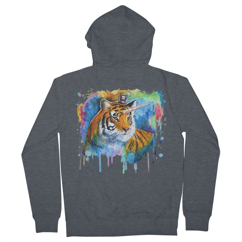 The Tigress With a Dream Women's French Terry Zip-Up Hoody by