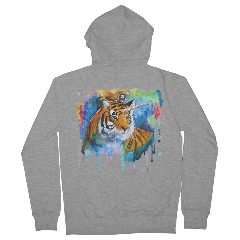The Tigress With a Dream Women's French Terry Zip-Up Hoody by artofvelazuez
