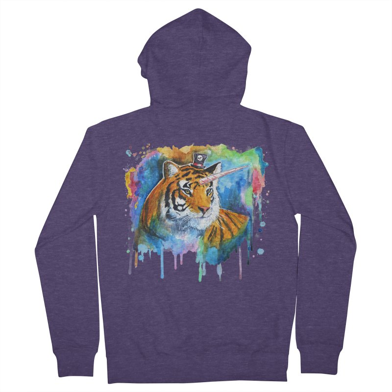 The Tigress With a Dream Men's French Terry Zip-Up Hoody by