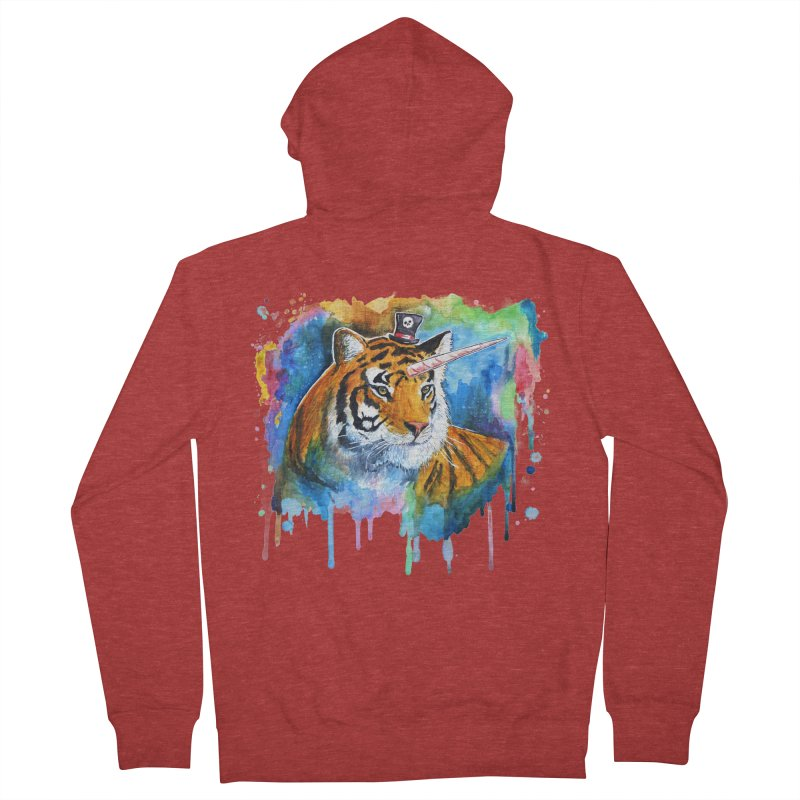 The Tigress With a Dream Men's French Terry Zip-Up Hoody by artofvelazuez