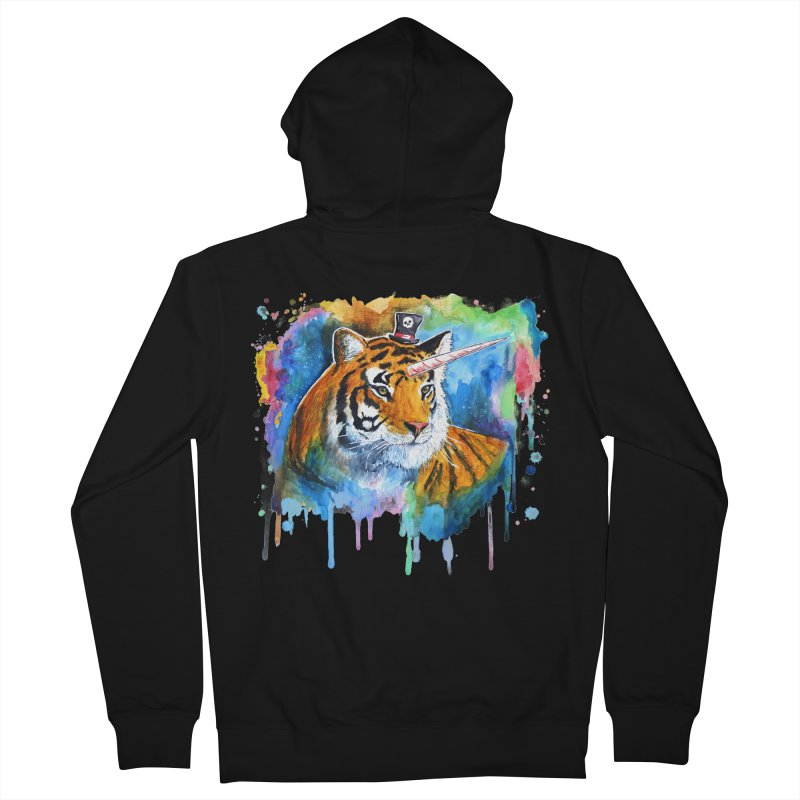The Tigress With a Dream Men's Zip-Up Hoody by
