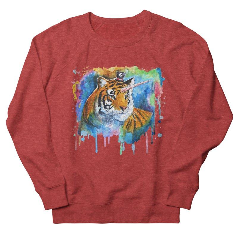 The Tigress With a Dream Women's French Terry Sweatshirt by artofvelazuez