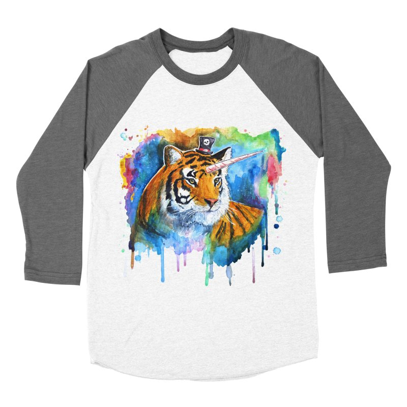 The Tigress With a Dream Women's Baseball Triblend Longsleeve T-Shirt by