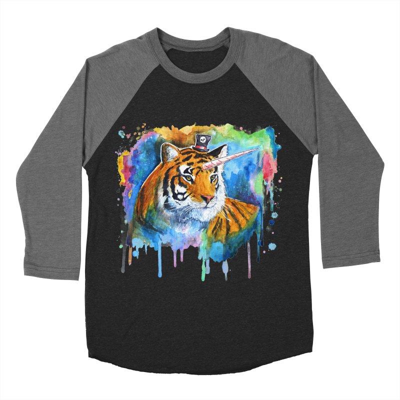 The Tigress With a Dream Women's Baseball Triblend Longsleeve T-Shirt by