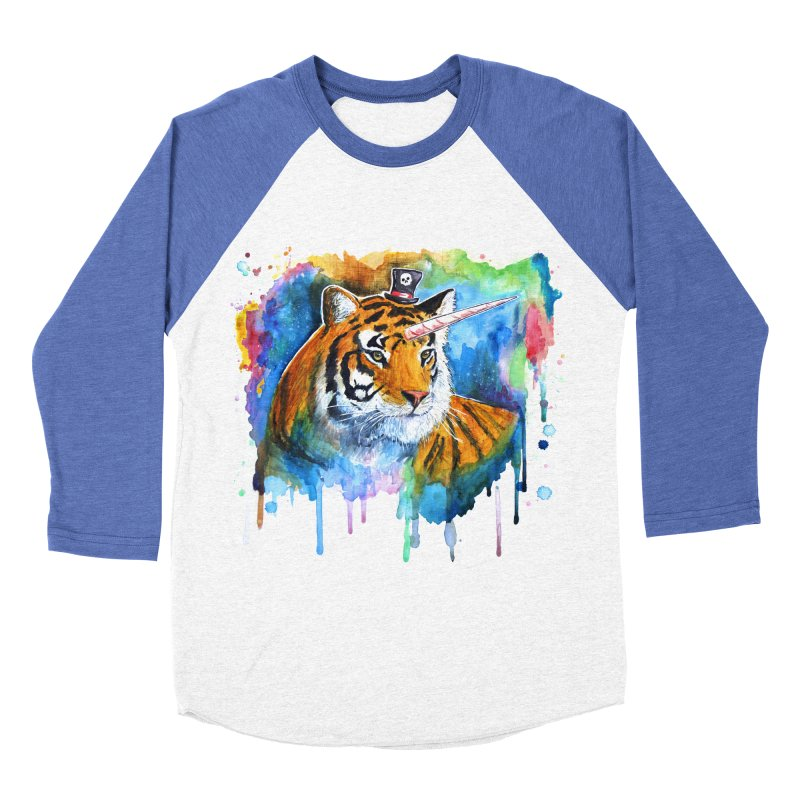 The Tigress With a Dream Men's Baseball Triblend Longsleeve T-Shirt by artofvelazuez